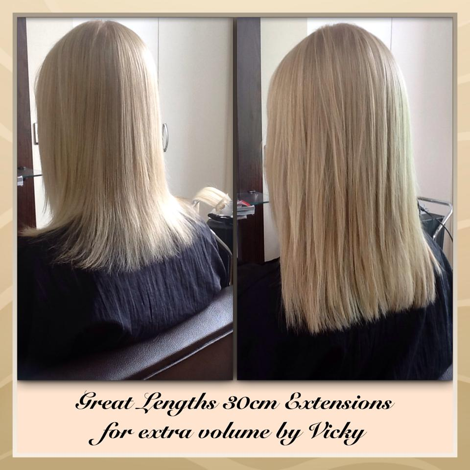 Before After Great Lengths Hair Extensions Tufties Hair Beauty